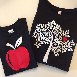 Other - Apple+Tree Matching Shirts (Black)